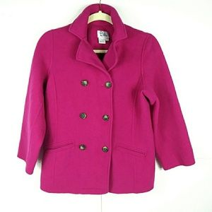 Vintage Lilly Pulitzer Girls Wool Pink Peacoat 14
